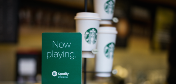 Image result for spotify starbucks partnership