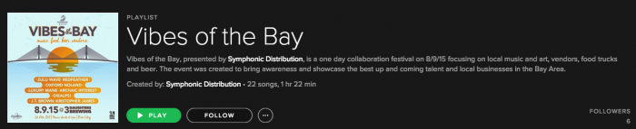 Vibes of the Bay Spotify Playlist
